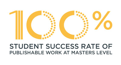 100 per cent student success rate of publishable work at Masters level