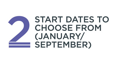 2 start dates to choose from: January or September
