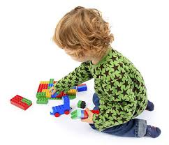 Child with lego